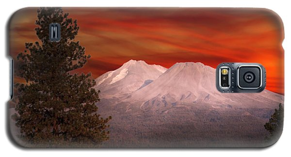 Mt Shasta Fire In The Sky Galaxy S5 Case