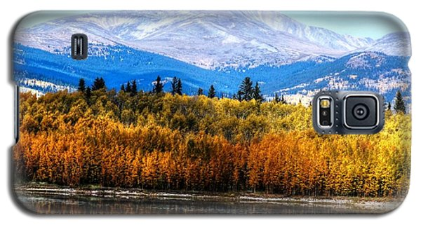 Galaxy S5 Case featuring the photograph Mt. Silverheels With Aspens by Lanita Williams