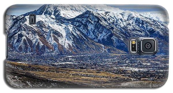 Mt. Timpanogos In Winter From Utah Valley Galaxy S5 Case