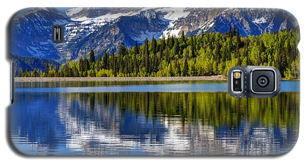 Mt. Timpanogos Reflected In Silver Flat Reservoir - Utah Galaxy S5 Case