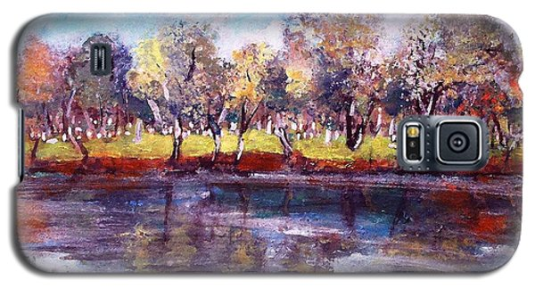 Galaxy S5 Case featuring the painting Mt Feake Along The Charles River by Rita Brown