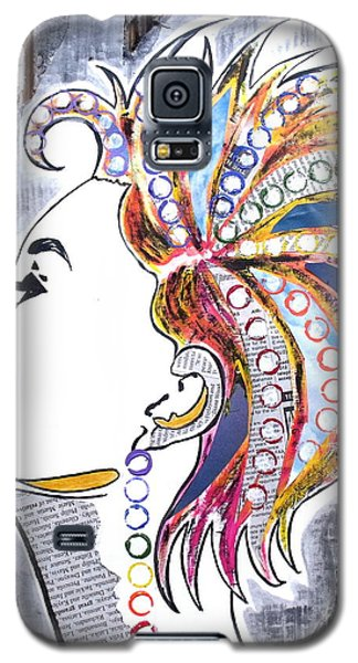 Galaxy S5 Case featuring the painting Much More Than Her Story by Julie  Hoyle