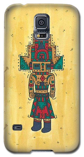 Galaxy S5 Case featuring the painting Mudhead Kachina Doll by Susie Weber