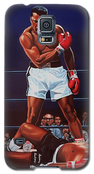 Portraits Galaxy S5 Case - Muhammad Ali Versus Sonny Liston by Paul Meijering