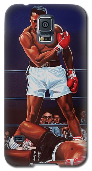 Muhammad Ali Versus Sonny Liston Galaxy S5 Case by Paul Meijering