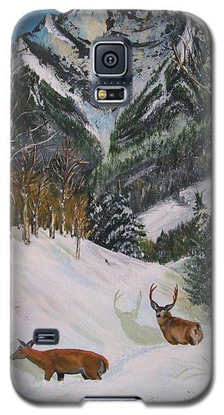 Mule Deer In Winter Galaxy S5 Case