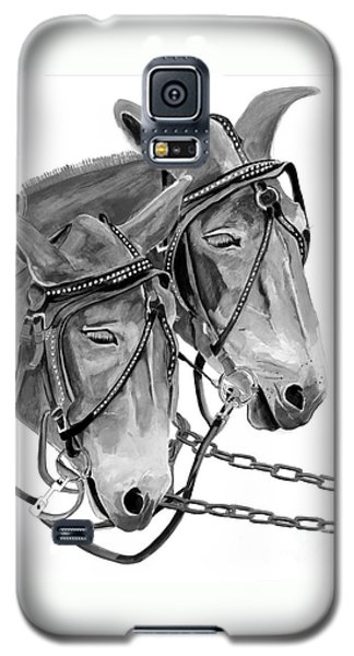 Mules - Beast Of Burden - B And W Galaxy S5 Case