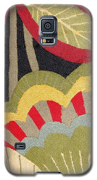 Galaxy S5 Case featuring the photograph Multi-colored Flowers Leaves Textile by Janette Boyd