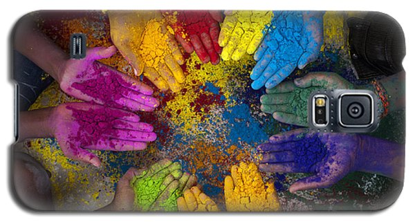 Multicoloured Hands Galaxy S5 Case