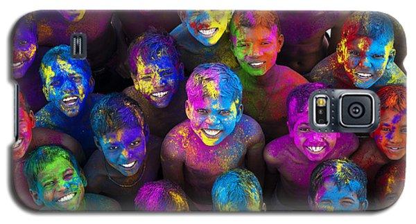 Multicoloured Happy Faces Galaxy S5 Case