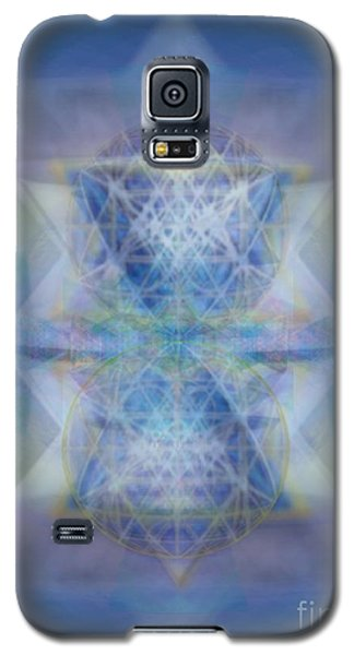 Galaxy S5 Case featuring the digital art Multivortex 3d Chalice With Horizontal Vortexes by Christopher Pringer