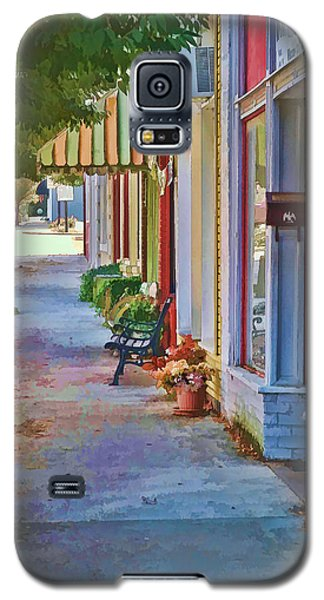 Galaxy S5 Case featuring the photograph Murphy Nc Sidewalk by Kenny Francis