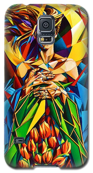 Galaxy S5 Case featuring the painting Muse  Spring by Greg Skrtic