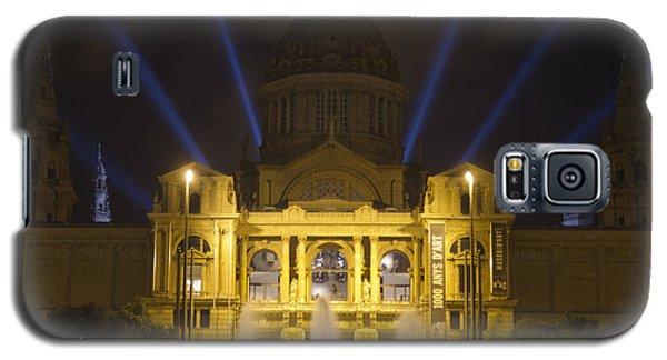 Galaxy S5 Case featuring the photograph Museu Nacional D'art De Catalunya Light Show by Nathan Rupert
