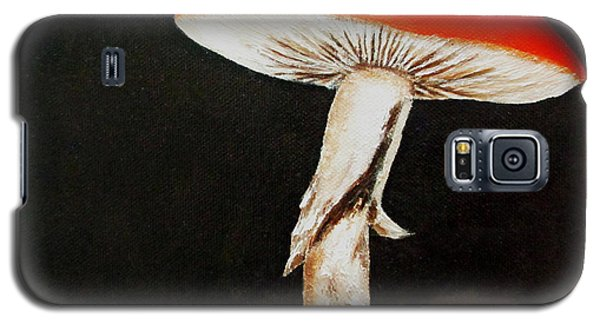 Galaxy S5 Case featuring the painting Mushroom by Roseann Gilmore