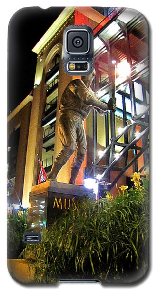 Galaxy S5 Case featuring the photograph Musial Statue At Night by John Freidenberg