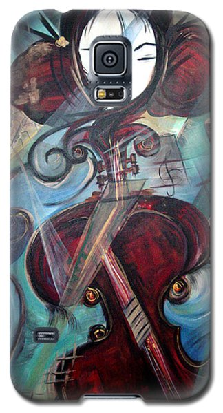 Galaxy S5 Case featuring the painting Music Of My Life by Dorothy Maier