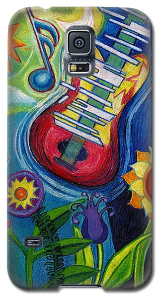 Music On Flowers Galaxy S5 Case