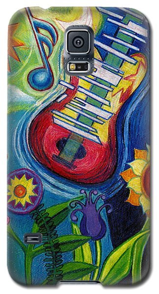 Music On Flowers Galaxy S5 Case by Genevieve Esson