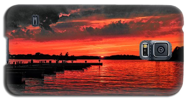 Muskoka Sunset Galaxy S5 Case by Les Palenik