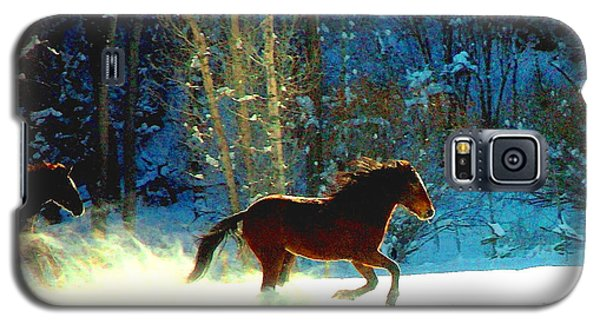 Galaxy S5 Case featuring the photograph Mustangs Gallope El Valle Nm by Anastasia Savage Ealy