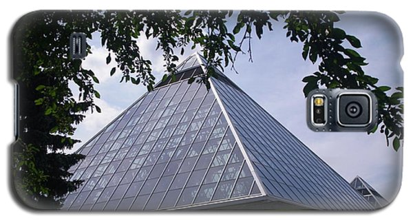 Galaxy S5 Case featuring the photograph Muttart Conservatory Pyramids by Sheila Byers