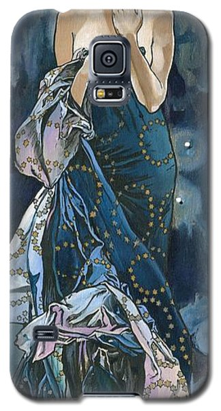 My Acrylic Painting As An Interpretation Of The Famous Artwork Of Alphonse Mucha - Moon - Galaxy S5 Case by Elena Yakubovich