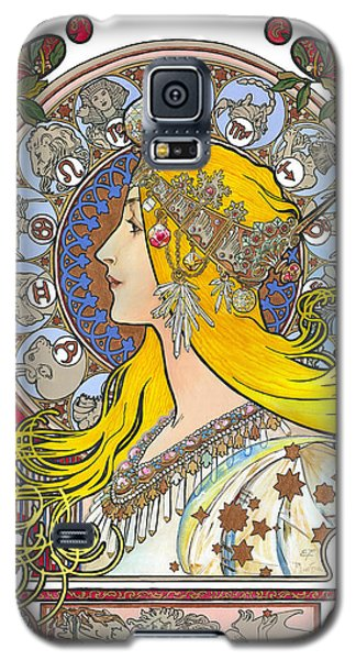 My Acrylic Painting As An Interpretation Of The Famous Artwork Of Alphonse Mucha - Zodiac - Galaxy S5 Case