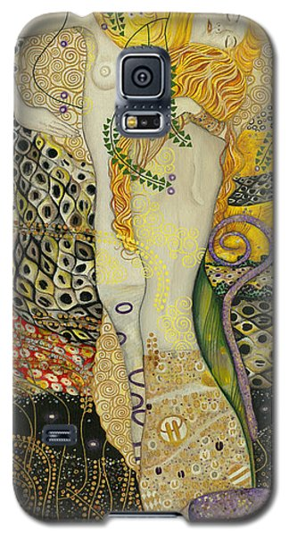 My Acrylic Painting As An Interpretation Of The Famous Artwork Of Gustav Klimt - Water Serpents I Galaxy S5 Case by Elena Yakubovich