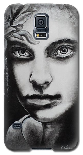 Galaxy S5 Case featuring the drawing My Beautiful Belladonna by Carla Carson