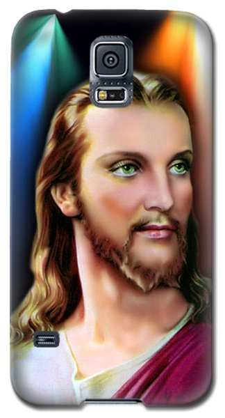 Galaxy S5 Case featuring the digital art My Beautiful Jesus 3 by Karen Showell