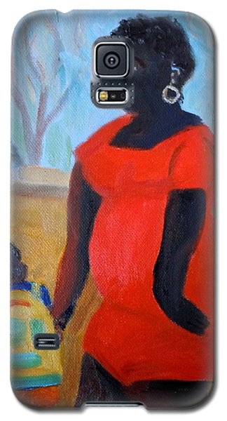 Galaxy S5 Case featuring the painting My Beautiful Mamma by Francine Frank