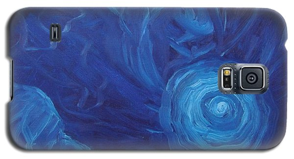 Galaxy S5 Case featuring the painting My Blue Dream by Nina Mitkova