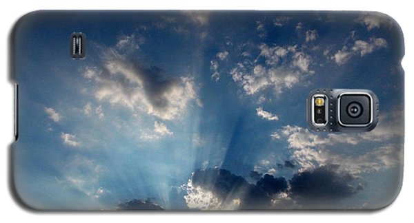 Galaxy S5 Case featuring the photograph My Blue Heaven by Carolyn Repka