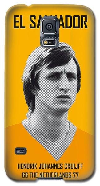 My Cruijff Soccer Legend Poster Galaxy S5 Case by Chungkong Art