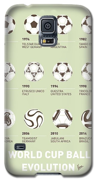 Apple Galaxy S5 Case - My Evolution Soccer Ball Minimal Poster by Chungkong Art