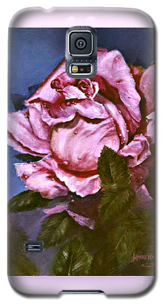 Galaxy S5 Case featuring the painting My First Rose by Lynne Wright