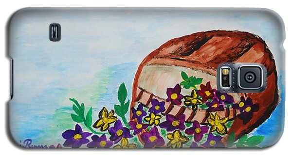 Galaxy S5 Case featuring the painting My Flower Basket by Ramona Matei