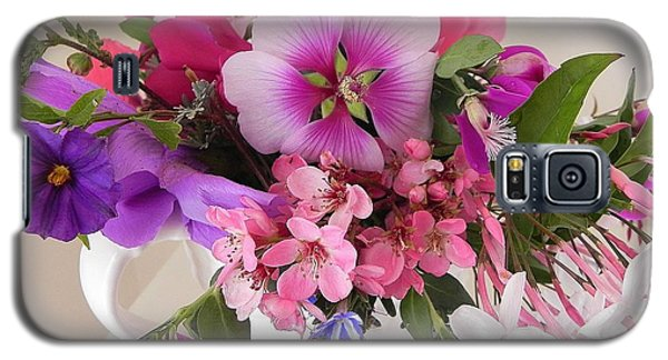 Galaxy S5 Case featuring the photograph My Garden's Delight by Peggy Stokes