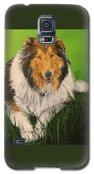 Galaxy S5 Case featuring the painting My Guardian  by Wendy Shoults
