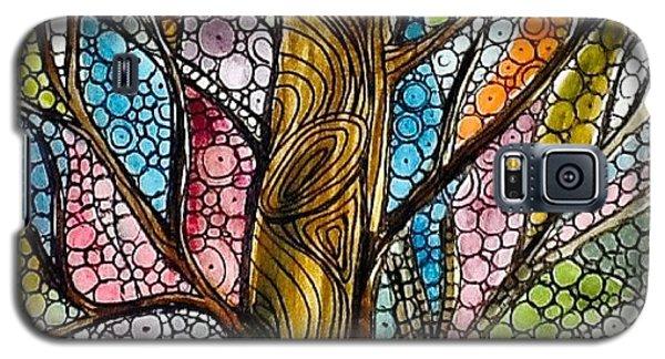 Galaxy S5 Case - My Happy Watercolor Tree by Sandra Lira