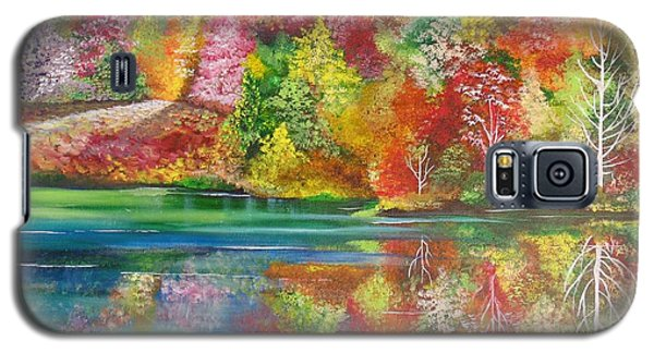 Galaxy S5 Case featuring the painting My Hiding Place by Nereida Rodriguez
