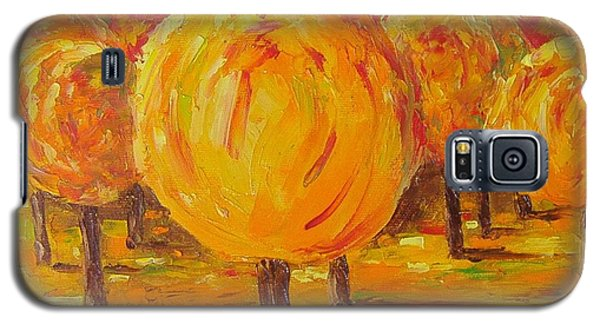 Galaxy S5 Case featuring the painting My Hot Autumn by Nina Mitkova