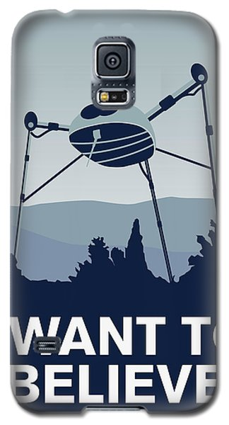 My I Want To Believe Minimal Poster-war-of-the-worlds Galaxy S5 Case by Chungkong Art