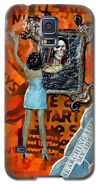 Galaxy S5 Case featuring the painting My Identity by Lisa Piper