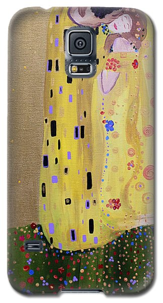 Galaxy S5 Case featuring the painting My Kiss by Stacey Zimmerman