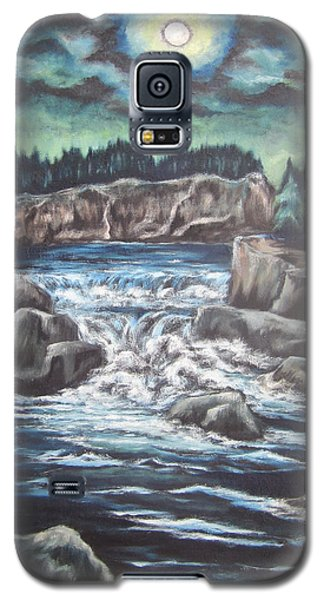 Galaxy S5 Case featuring the painting My Land My Imagination 2 by Cheryl Pettigrew