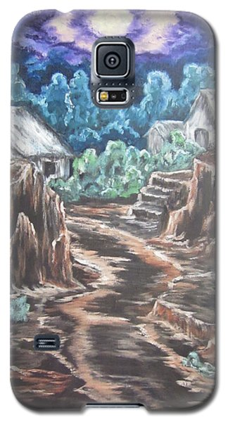 Galaxy S5 Case featuring the painting My Land My Imagination by Cheryl Pettigrew