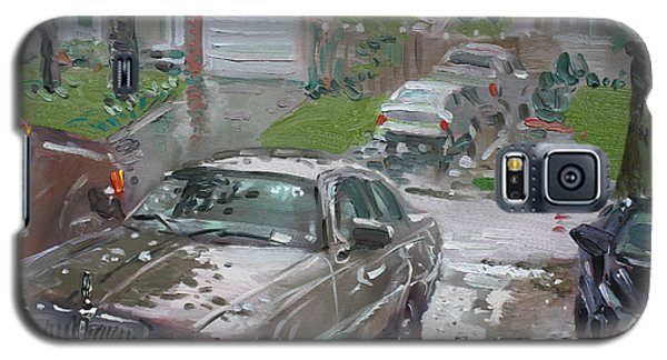Town Galaxy S5 Case - My Lincoln In The Rain by Ylli Haruni