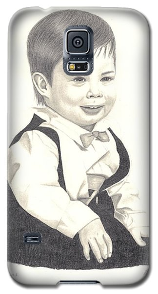 Galaxy S5 Case featuring the drawing My Little Boy by Patricia Hiltz